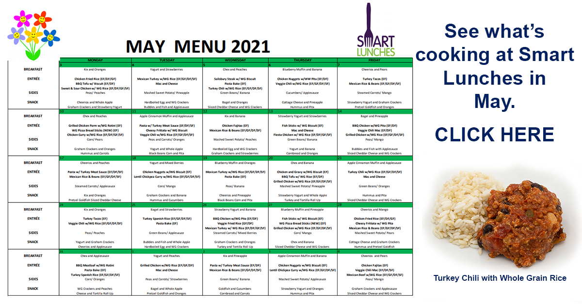 May 2021 Smart Lunches Menu